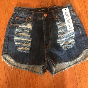 adorable jean shorts NWT